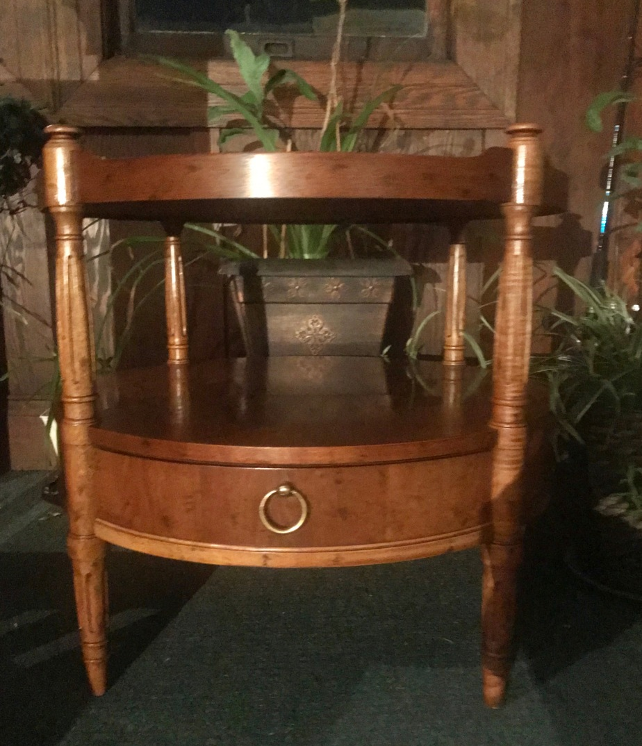 Another Before And After:  A Beautiful Walnut SideTable